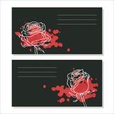 Сards z różami Zdjęcie Royalty Free