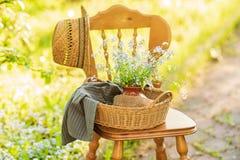 Сhair в саде страны стоковая фотография