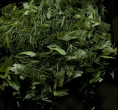 Ð¡hopped greenery Stock Photos