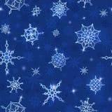Сhristmas, νέο πρότυπο έτους με snowflakes Στοκ Εικόνες
