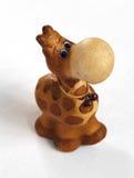Ð¡lay giraffe figurine top view. Ð¡lay giraffe figurine on a white background royalty free stock photography