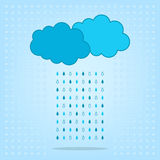 Ð¡louds with rain  on the background Royalty Free Stock Images