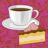�offee and chocolate �ake Stock Photo