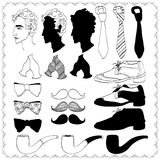Ð¡ollection of gentleman's accessories Stock Image
