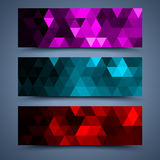 Сolor banners templates. Abstract backgrounds Royalty Free Stock Photo