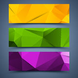 Ð¡olor banners templates. Abstract backgrounds Royalty Free Stock Images