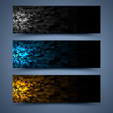 Сolor banners templates. Abstract backgrounds Royalty Free Stock Photography