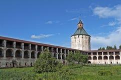 Сourtyard of Kirillo-Belozersky monastery, Russia Stock Photo