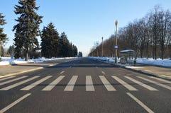 Сrosswalk με το με ραβδώσεις Στοκ φωτογραφίες με δικαίωμα ελεύθερης χρήσης