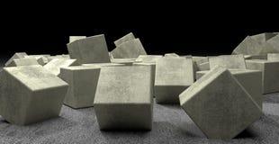 The сubes of light concrete Stock Photo