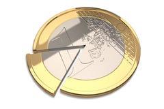 En euro myntar royaltyfri illustrationer