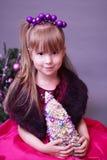 Сute bożych narodzeń mała dziewczynka Zdjęcia Royalty Free