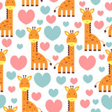 Сute seamless pattern with giraffe Stock Photography