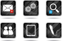 таблетка интернета 3 икон иллюстрация штока