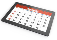 таблетка календара Стоковое Изображение
