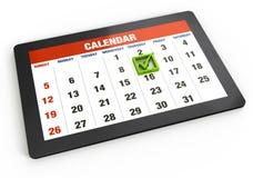 таблетка календара Стоковое Изображение RF