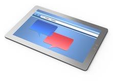таблетка компьютера бормотушк Стоковое Фото