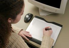 таблетка художника графическая стоковая фотография rf