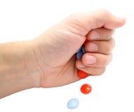 таблетки руки Стоковое фото RF