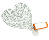 таблетки сердца Стоковое Фото