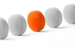 таблетки серии руководителя принципиальной схемы стоящие Стоковое Фото