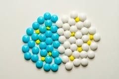 таблетки 3 цветов Стоковые Изображения