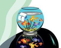 таблица аквариума черная Стоковые Изображения RF