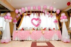 Таблица банкета венчания Стоковая Фотография