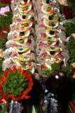 таблица банкета заполненная рыбами Стоковое фото RF