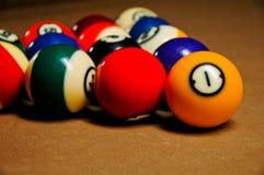 таблица бассеина биллиарда шариков Стоковые Изображения