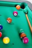 таблица биллиарда шариков Стоковая Фотография
