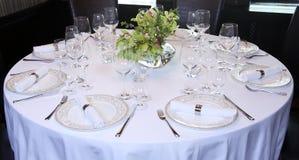 таблица вычуры обеда установленная стоковая фотография rf