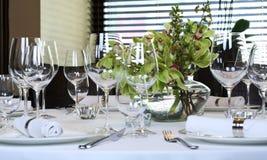 таблица вычуры обеда установленная стоковое фото