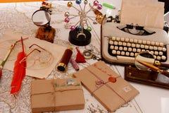 Таблица в офисе ` s Санта Клауса стоковая фотография rf