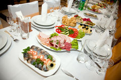 таблица еды банкета Стоковые Изображения