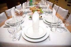 таблица еды банкета Стоковое Фото