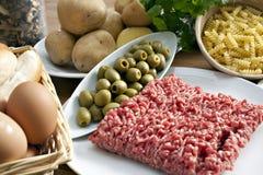 таблица еды Стоковые Фото