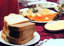 таблица еды Стоковое фото RF