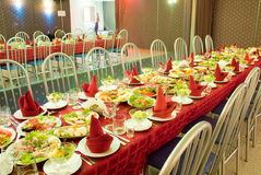 таблица еды Стоковые Изображения