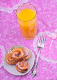 таблица завтрака Стоковая Фотография