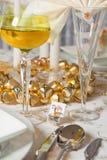 таблица золота рождества 5 Стоковая Фотография RF