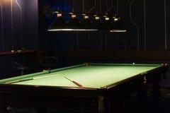таблица игры биллиардов Стоковое Изображение