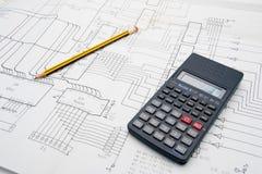 таблица инженера по дизайну Стоковое фото RF