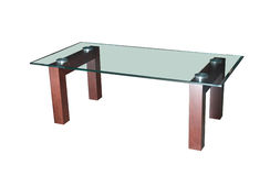 таблица кафа изолированная стеклом Стоковое Изображение