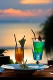 таблица коктеила обедая Стоковое Фото