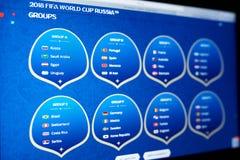 таблица 2018 команды кубка мира ФИФА Стоковые Изображения