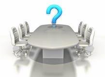 таблица комнаты вопросе о метки конференции большая Стоковая Фотография RF