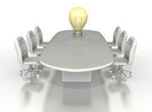 таблица комнаты конференции шарика большая светлая Стоковое Изображение RF