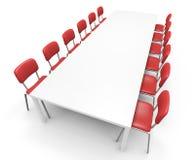 таблица конференции Стоковые Изображения