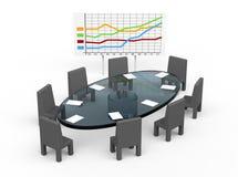 таблица конференции Стоковая Фотография